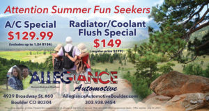 July A/C Special and Coolant Flush Deal