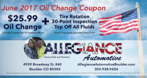 June Oil Change Coupon