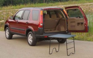 2002 honda crv with picnic table