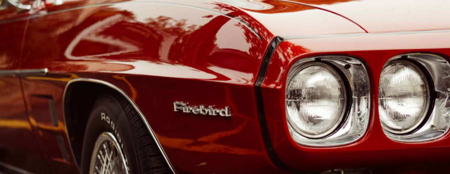Red Firebird Headlights